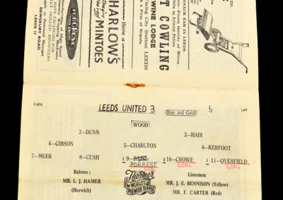 Newcastle United v Leeds United 14.12.1957