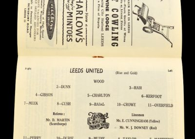 Blackpool v Leeds United 21.12.1957