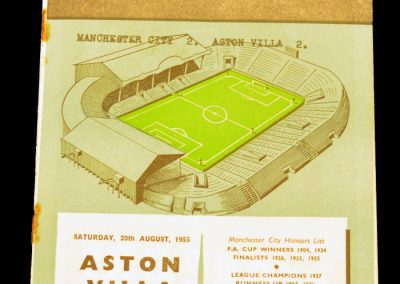 Manchester City v Aston Villa 20.08.1955