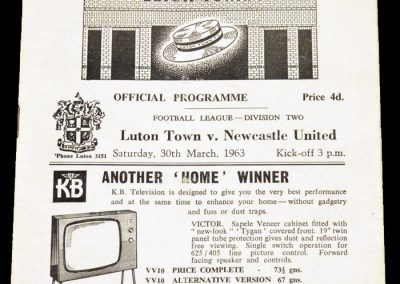 Luton Town FC v Newcastle United 30.03.1963