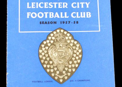 Leicester City v Leeds United 28.12.1957