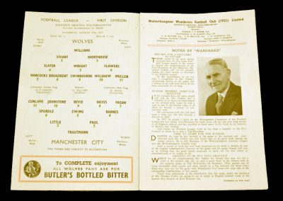 Wolverhampton Wanderers Manchester City 27.08.1955