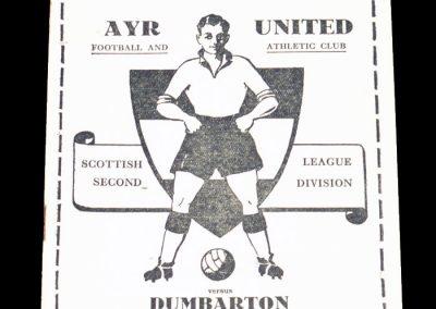 AYR United v Dumbarton 06.04.1963