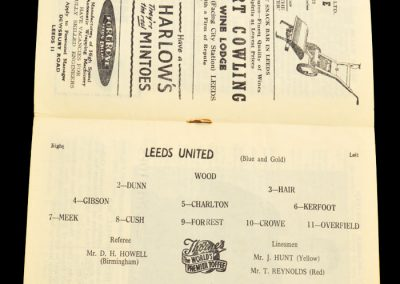 Cardiff City v Leeds United 04.01.1958 | FA Cup 3rd Round