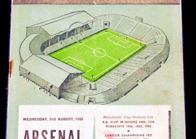 Manchester City v Arsenal 31.08.1955