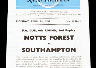 Nottingham Forest v Southampton 08.04.1963 | FA Cup 6th Round