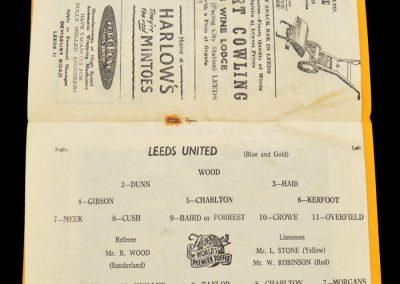 Manchester United v Leeds United 11.01.1958