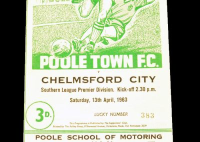 Poole Town FC v Chelmsford City 13.04.1963