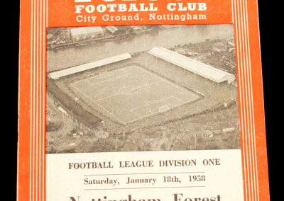 Nottingham Forest v Leeds United 18.01.1958