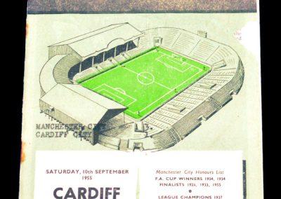 Manchester City v Cardiff City 10.09.1955