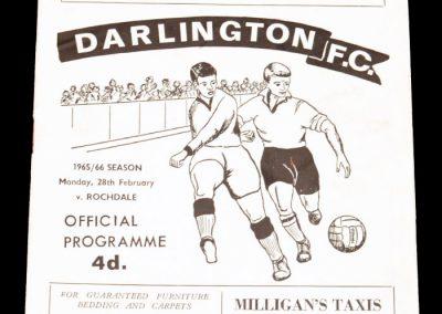 Darlington FC v Rochdale 28.02.1966
