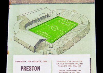Preston North End v Manchester City 15.10.1955