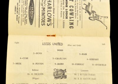 Portsmouth v Leeds United 22.02.1958