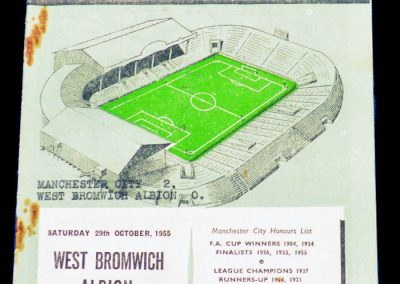 West Bromwich Albion v Manchester City 29.10.1955