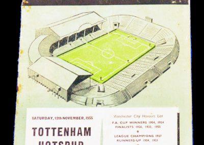 Tottenham Hotspur v Manchester City 12.11.1955