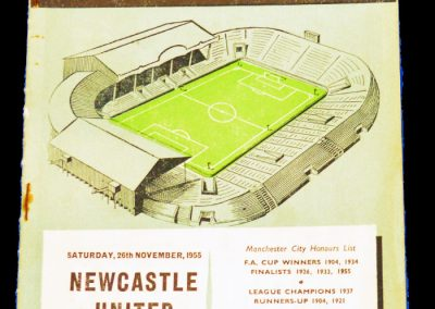 Newcastle United v Manchester City 26.11.1955