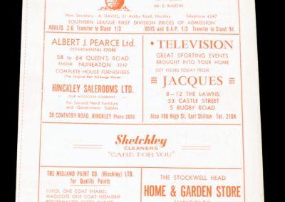 Hinckley Atheltic v Dunstable 09.04.1966