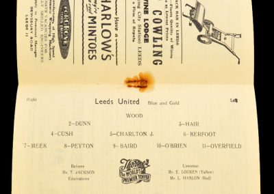 Arsenal v Leeds United 19.03.1958