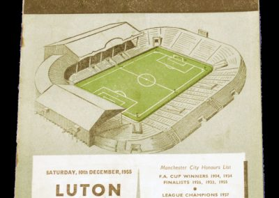 Luton Town v Manchester City 10.12.1955