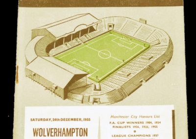 Wolverhampton Wanderers v Manchester City 24.12.1955