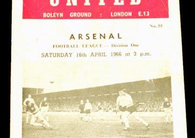 West Ham United v Arsenal 16.04.1966