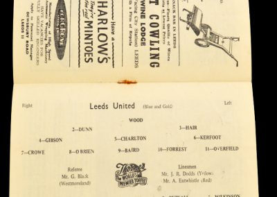 Sheffield Wednesday v Leeds United 05.04.1958