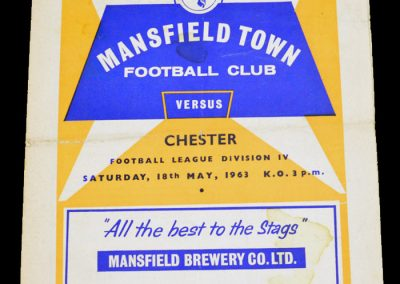Mansfield Town v Chester 18.05.1963
