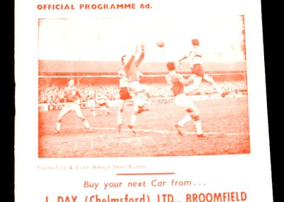 Chelmsford City v Hereford 23.04.1966