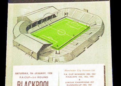 Blackpool v Manchester City 07.01.1956 | FA Cup 3rd Round