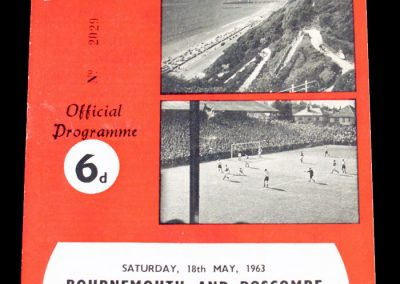 Bournemouth & Bosecombe v Southend United 18.05.1963