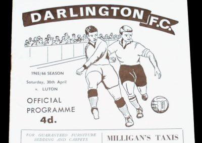 Darlington FC v Luton 30.04.1966
