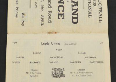 Chelsea v Leeds United 19.04.1958