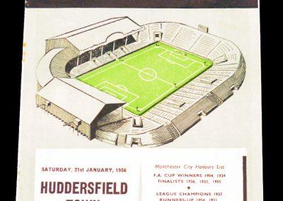 Huddersfield Town v Manchester City 21.01.1956