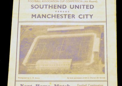 Southend United v Manchester City 28.01.1956 | FA Cup 4th Round