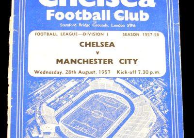 Chelsea v Manchester City 28.08.1957