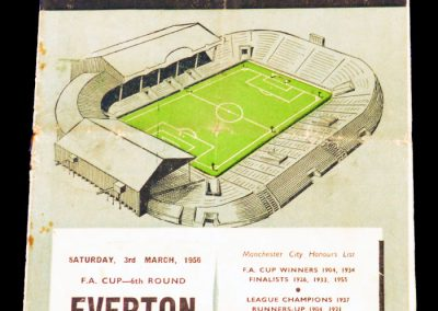 Everton v Manchester City 03.03.1956 | Fa Cup 6th Round