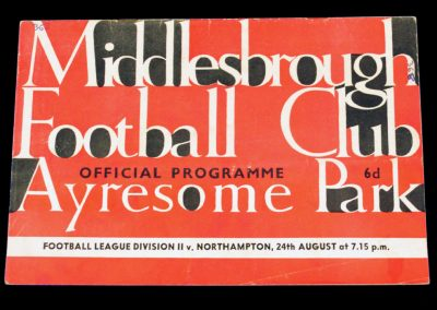 Northampton Town v Middlesbrough 24.08.1964