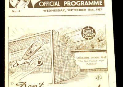 Preston North End v Manchester City 18.09.1957