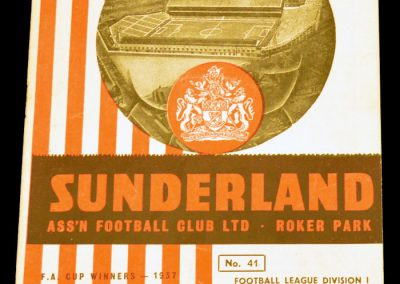 Sunderland v Manchester City 30.03.1956