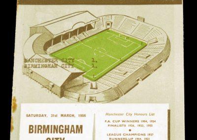 Birmingham City v Manchester City 31.03.1956