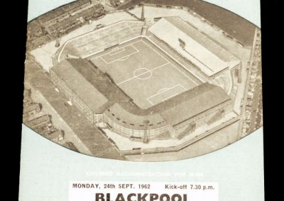 Blackpool v Manchester City 24.09.1962 | League Cup 2nd Round