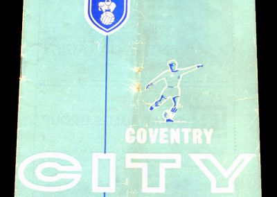 Coventry City v Middlesbrough 05.09.1964