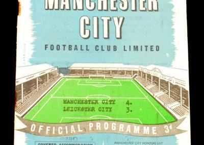 Leicester City v Manchester City 12.10.1957
