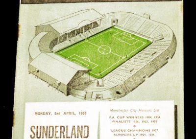 Sunderland v Manchester City 02.04.1956