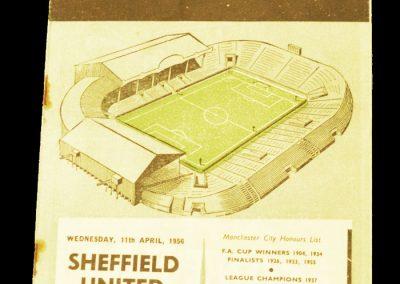 Sheffield United v Manchester City 11.04.1956