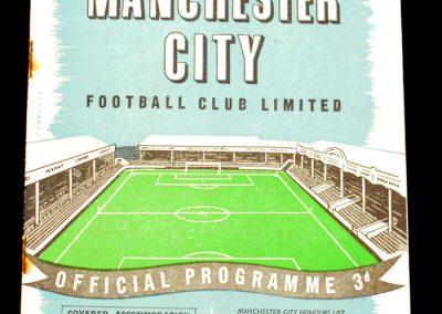 Bolton Wanderers v Manchester City 09.11.1957