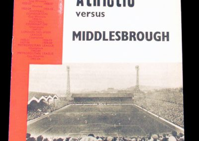 Charlton Athletic v Middlesbrough 23.09.1964 | League Cup 2nd Round