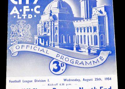 Cardiff City v Preston North End 25.08.1954