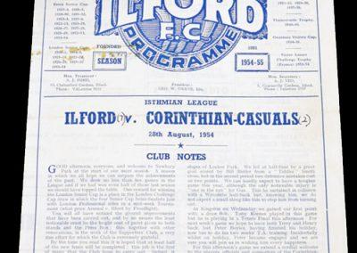 Ilford v Corinthian-Casuals 28.08.1954