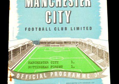 Nottingham Forest v Manchester City 11.01.1958